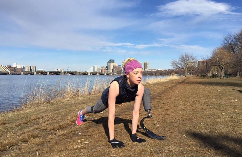 Une femme perd sa jambe pendant les attentats de Boston et se prépare à courir le marathon