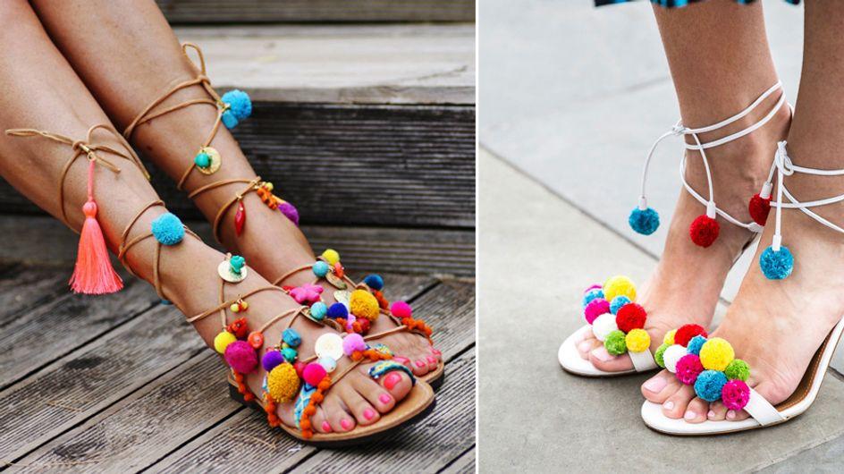 Pom Pom Sandalen selber machen: So geht's super einfach!