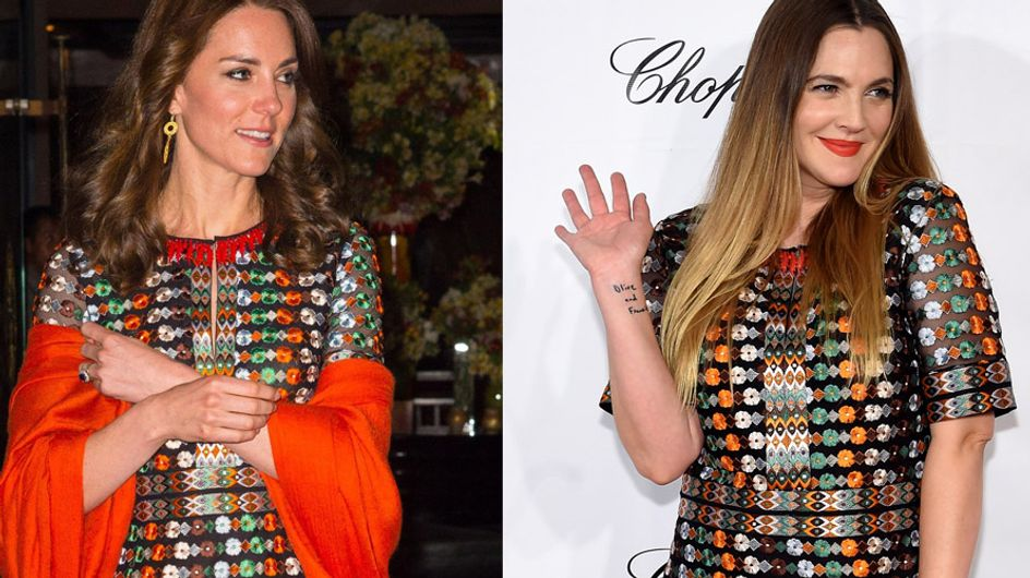 Kate Middleton vs Drew Barrymore : Qui porte le mieux la robe brodée ?