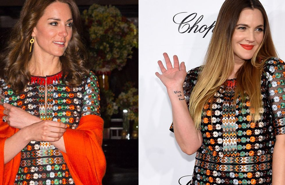 Kate Middleton vs Drew Barrymore : Qui porte le mieux la robe brodée ?
