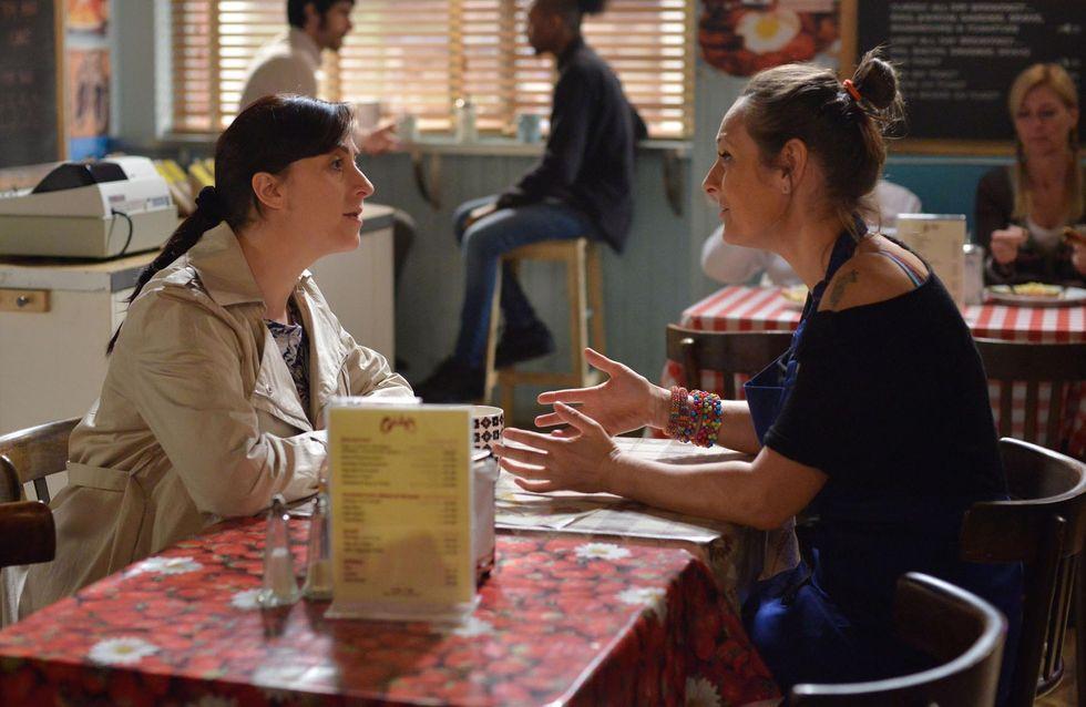 Eastenders 04/5 - Ronnie is shocked to find Tim on her doorstep looking for Hannah