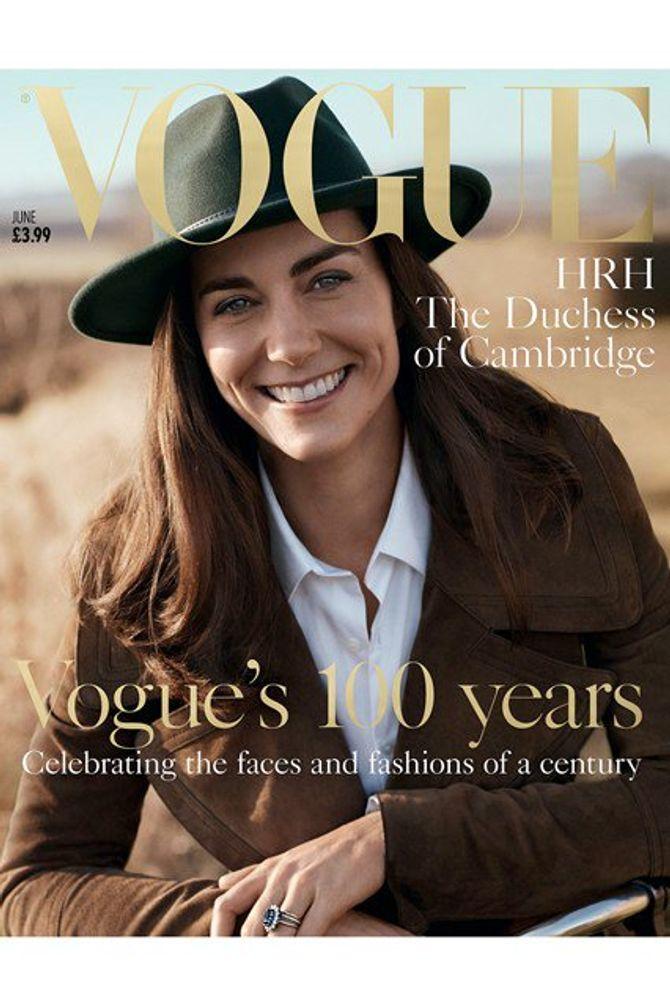 Kate Middleton pose en une de Vogue UK