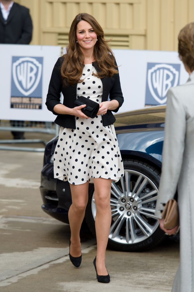 Kate Middleton en robe Topshop