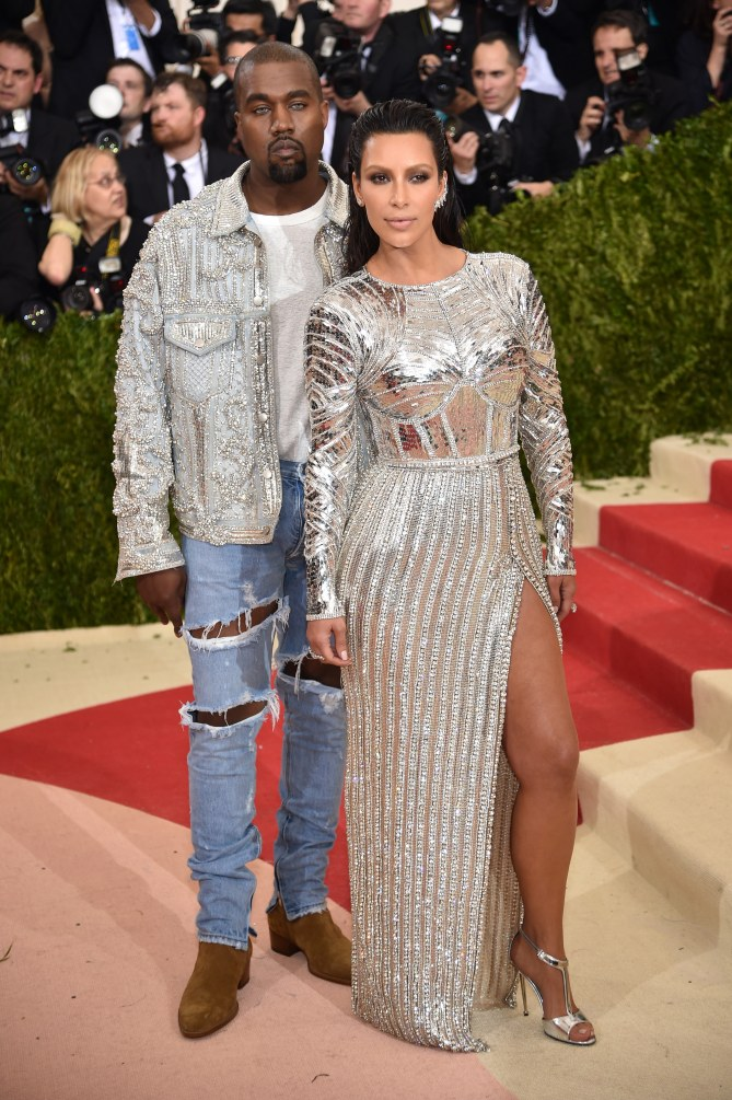 Kanye West et Kim Kardashian au Met Gala 2016
