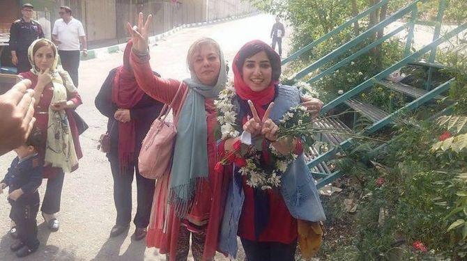 Atena Farghadani à sa libération