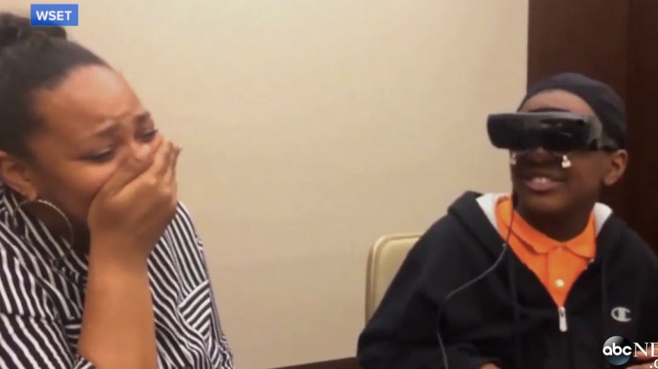 Blind 12-Year-Old Boy Sees His Mother For The First Time And It's Emotional AF