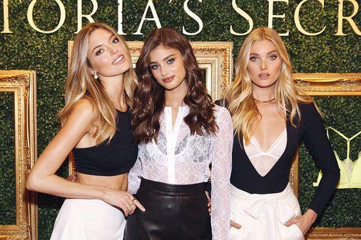 Les Anges de Victoria's Secret lors du lancement de la nouvelle campagne de la marque