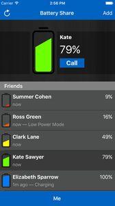 Un exemple de message que vous recevrez avec Battery Share