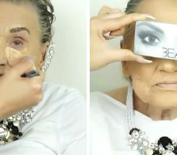 Esta abuela de 80 años pidió a su nieta que la maquillase. El resultado te dejar