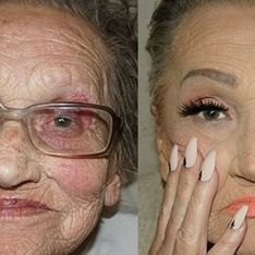 Make-up Artist Transforms 80-year-old Nan Into The Ultimate Glam-Ma