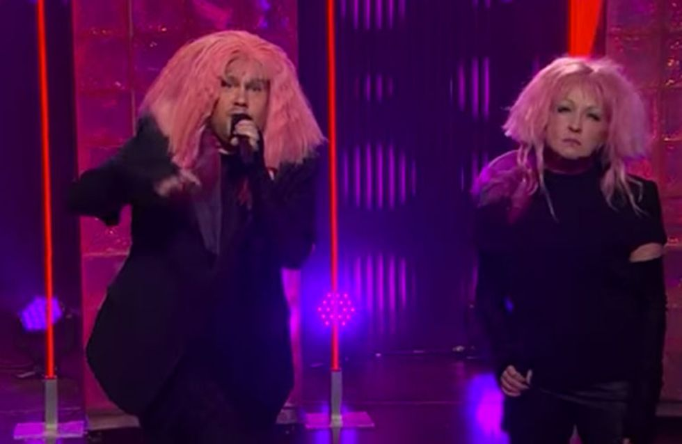WATCH: James Corden Speaks Up For Equal Pay in Hilarious Girls Just Wanna Have Fun Parody With Cyndi Lauper!