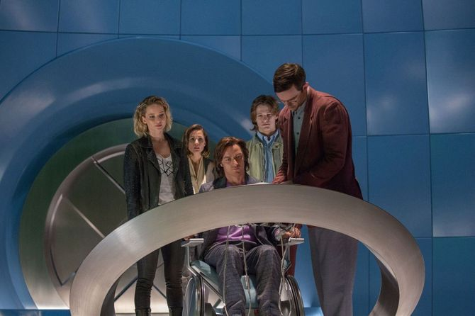 Jennifer Lawrence, James McAvoy et Nicholas Hoult dans X-Men Apocalypse