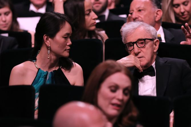 Woody Allen et son épouse