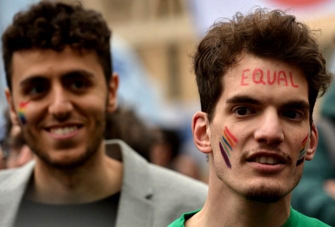 Une manifestation en soutien au projet de loi à Rome