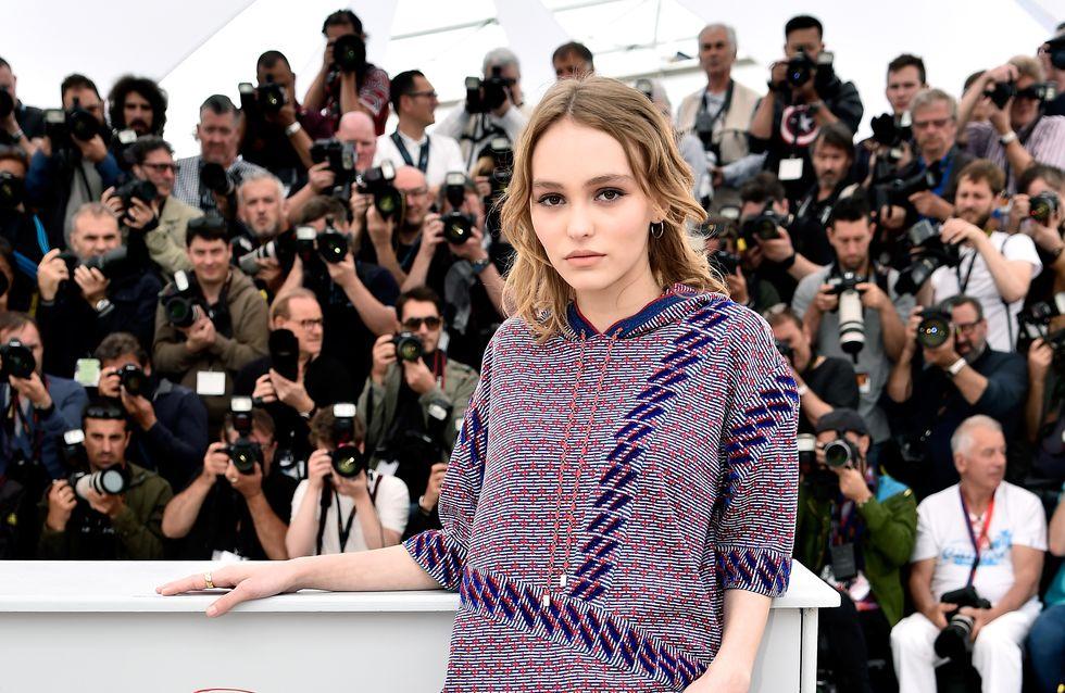 Lily-Rose Depp, en short pour son premier photocall à Cannes