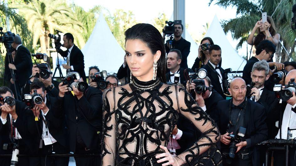 Kendall Jenner et sa robe transparente sur le tapis rouge cannois (Photos)