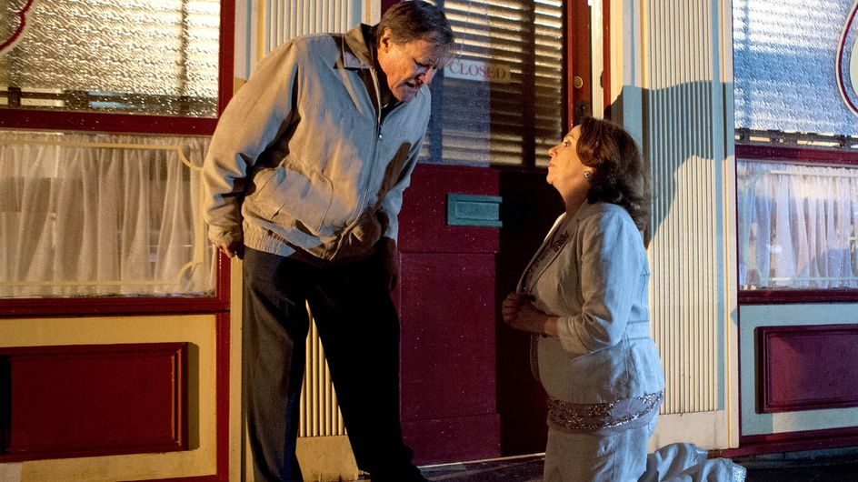 Coronation Street 25/5 - Cathy stuns Roy with a surprise proposal