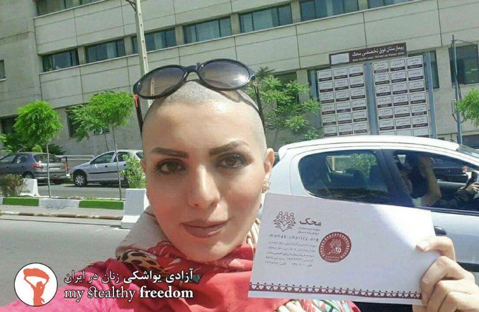 Une Iranienne devient le symbole de la lutte contre le port du voile après s'être rasée la tête