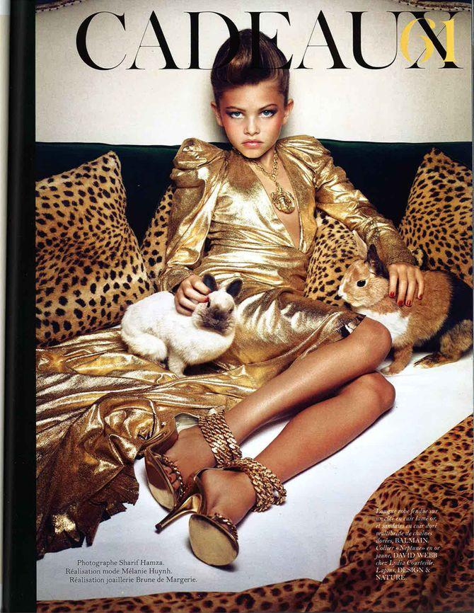 Thylane Blondeau pour Vogue, en décembre 2010