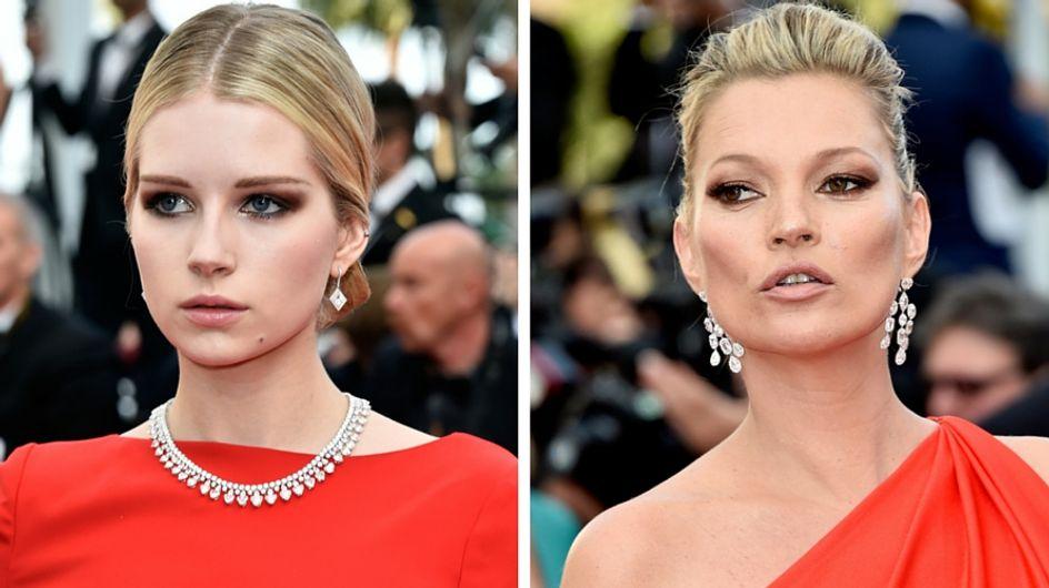 Lottie et Kate Moss, de vraies jumelles assorties sur le tapis rouge