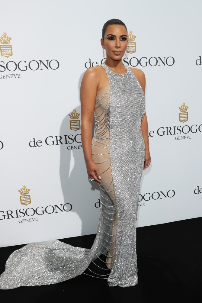 Kim Kardashian, à la soirée de Grisogono, le 17 mai 2016