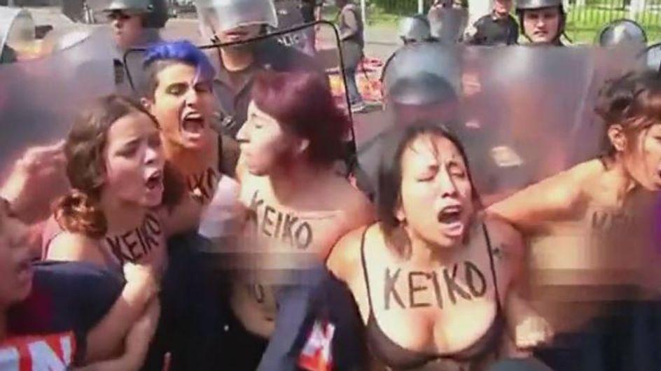 Au Pérou, seins nus contre une réforme de la loi sur l'avortement
