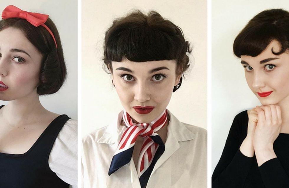 Belle, Audrey Hepburn...Elle se transforme en ses icônes de mode préférées