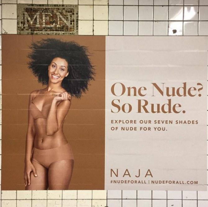 La campagne Naja dans le métro à New York