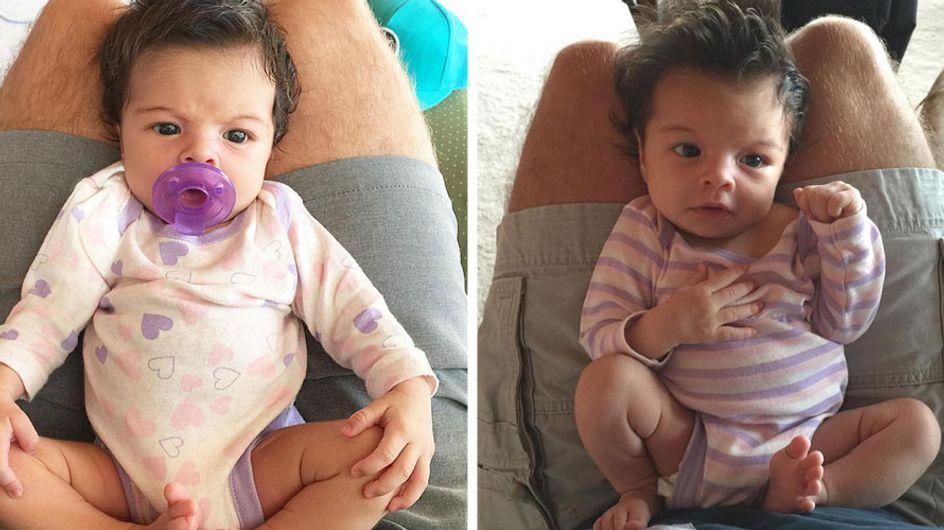 Internet-Star Baby Coral ist super süß, denn sie hat was, das nicht alle Babys haben!