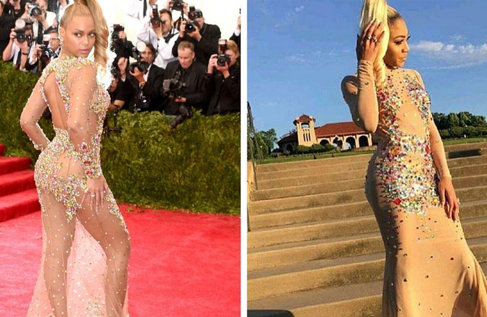 Pour son bal de promo, cette lycéenne reproduit la robe de Beyoncé