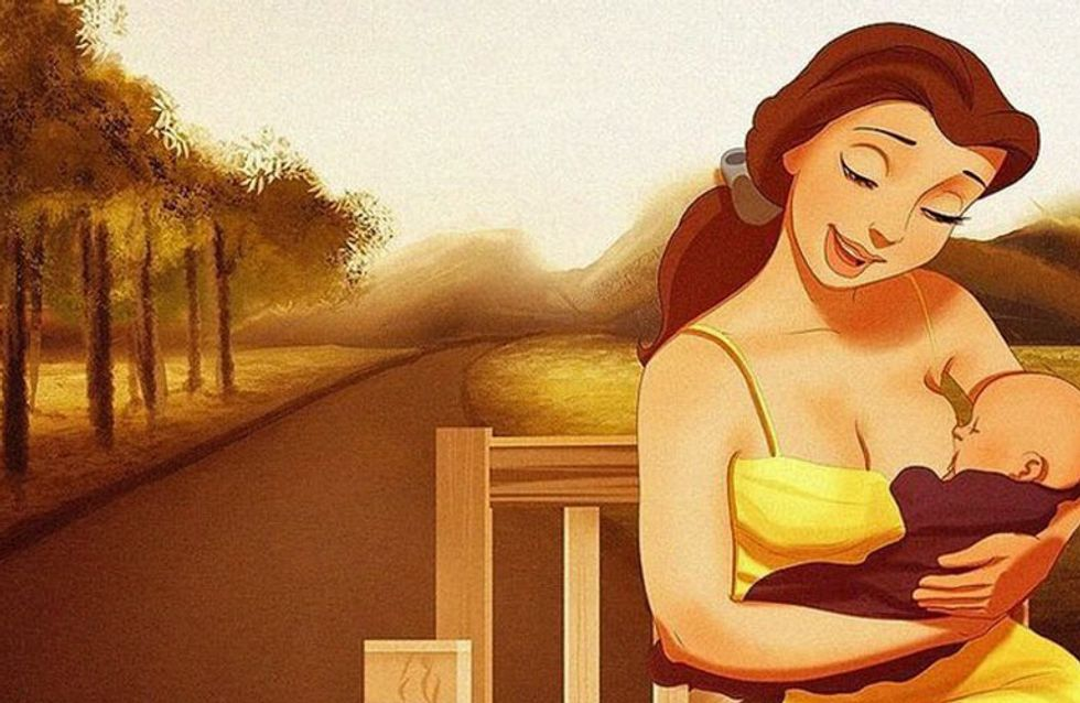 ¿Cómo serían las princesas Disney si fueran madres? ¡Esta artista nos lo enseña!