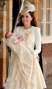 Kate Middleton en octobre 2013 au baptême de George