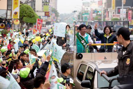Tsai Ing-wen en campagne présidentielle