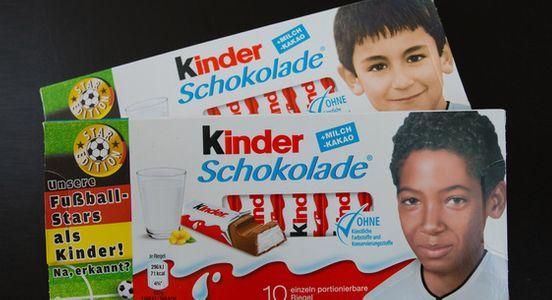Les nouveaux paquets allemands de Kinder pour l'Euro 2016
