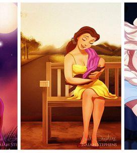 Principesse Disney incinte: la gallery che mostra le principesse alle prese con