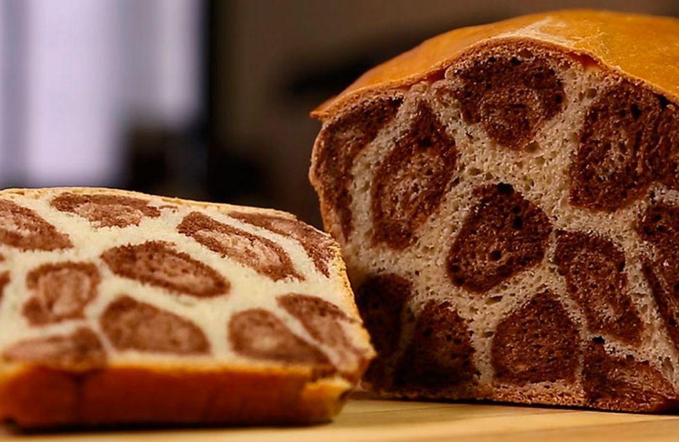 Faça em casa: pão de leite leopardo