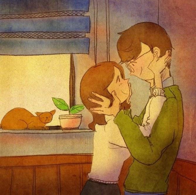 Liebe ist, wenn ihr euch auch ohne Worte versteht.