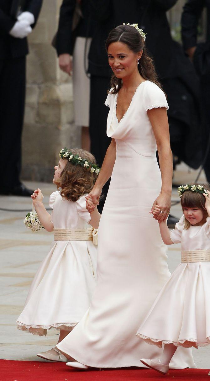 Pippa Middleton au mariage du prince William et Kate Middleton en 2011