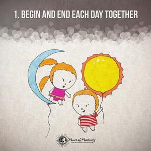 1. Empezar y terminar el día juntos