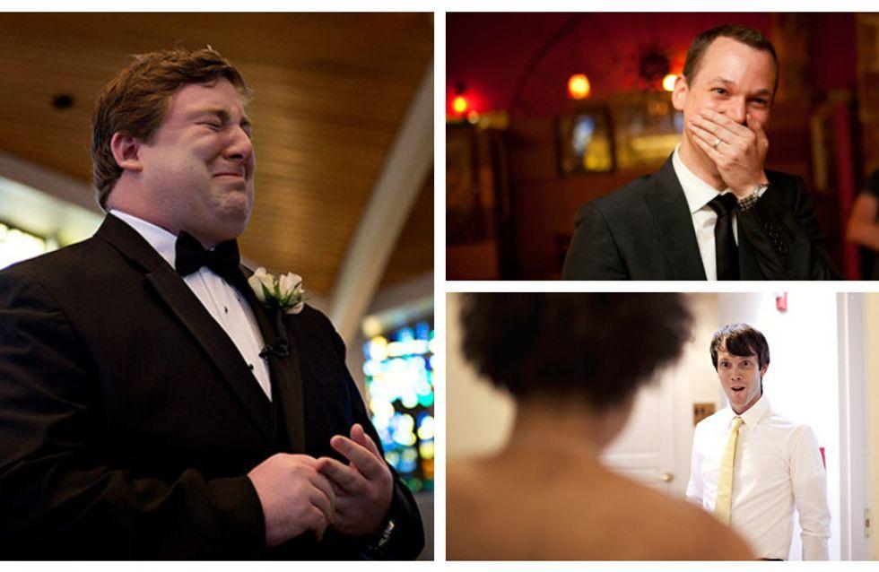 Arriva la sposa: le reazioni più emozionanti dei mariti che vedono le loro future mogli per la prima volta