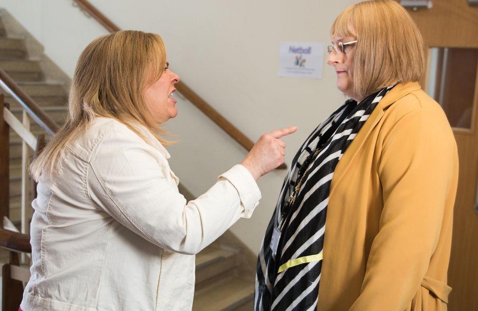 Hollyoaks 20/6 - Sally and Myra argue at the school