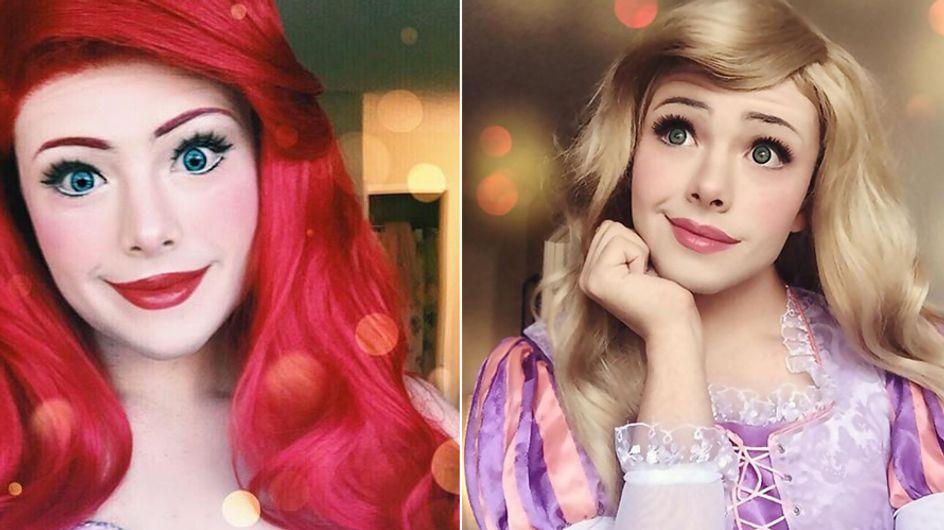 Ihr werdet euren Augen nicht trauen: Dieser 21-Jährige verwandelt sich in Disney-Prinzessinnen