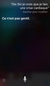 Les limites de l'application Siri