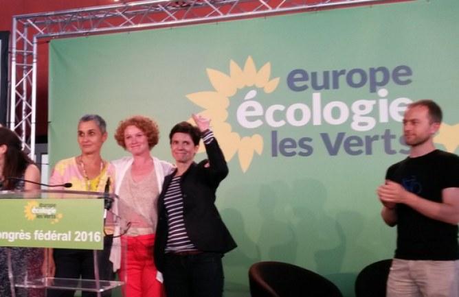 Le parti EELV ovationne les trois femmes