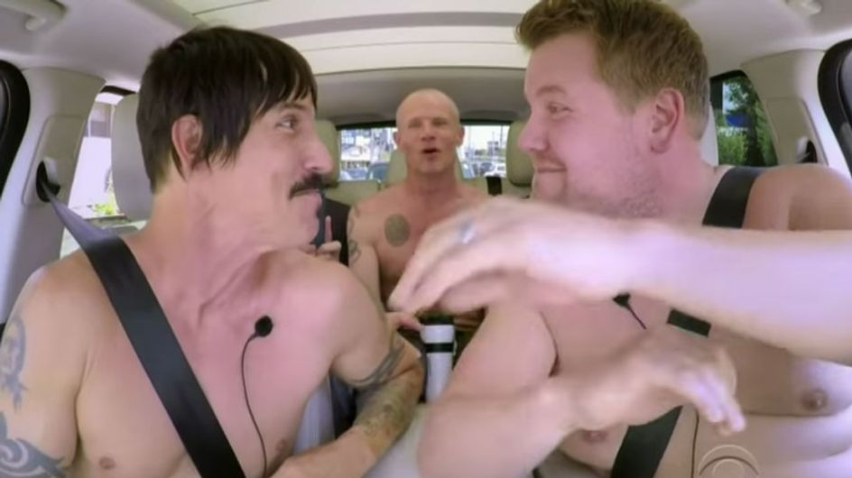 Red Hot Chili Peppers Just Put All Carpool Karaoke Guests To Shame (Thanks To Nudity And Man-Wrestling)