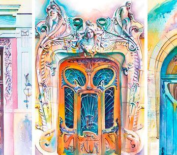 Artista ucraniana viaja o mundo para pintar portas