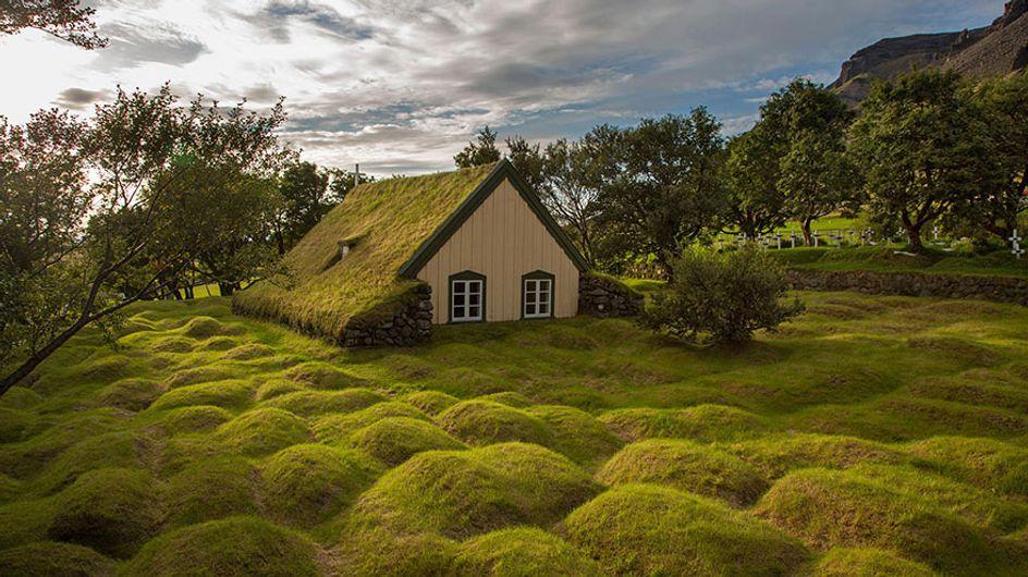 Más de 30 casas con tejados verdes que parecen sacadas de un cuento