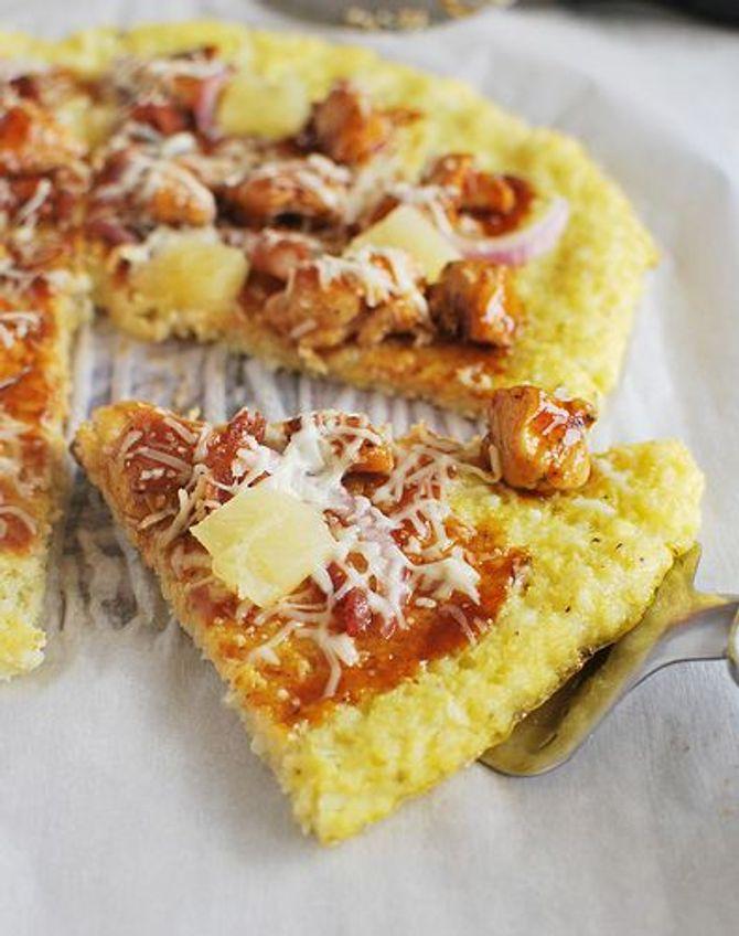 Pâte à pizza faite à base de chou-fleur