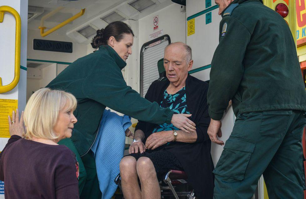 Eastenders 30/6 - Les is taken to hospital