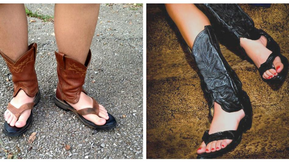 Peggio del sandalo con il calzino c'è solo il sandalo-stivale.